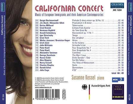 Californian Concert CD Tray