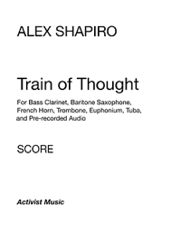 TRAIN OF THOUGHT score cover