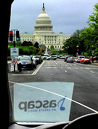 View of the Capitol from ASCAP's van on lobbying day