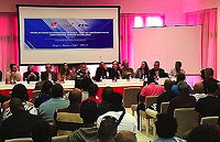 Alex Shapiro on the CIAM ExCo career workshop panel in Cabo Verde, Africa