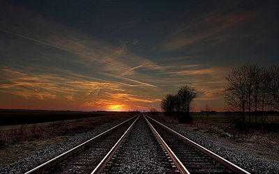 stock footage of train, tracks, with thanks to the unknown photographer.