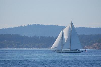 The schooner Adventuress in the San Juan Islands