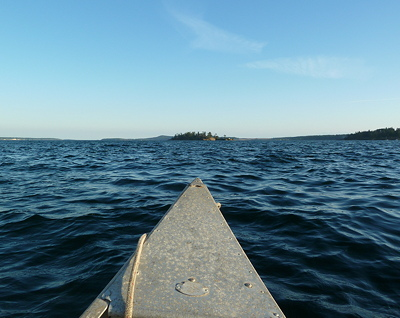 canoeing to Dinner Island