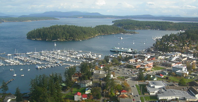 [IMAGE] above Friday Harbor