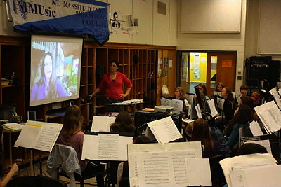 [IMAGE] Skypehearsal with Mount Mansfield Union High School