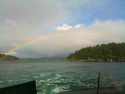 [IMAGE] rainbow from ferry